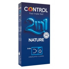 CONTROL 2IN1 NEW NATURE 2,0 + NATURE LUBE 3+ 3 PEZZI
