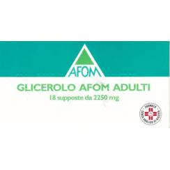 GLICEROLO (AFOM)*AD 18 supp 2.250 mg